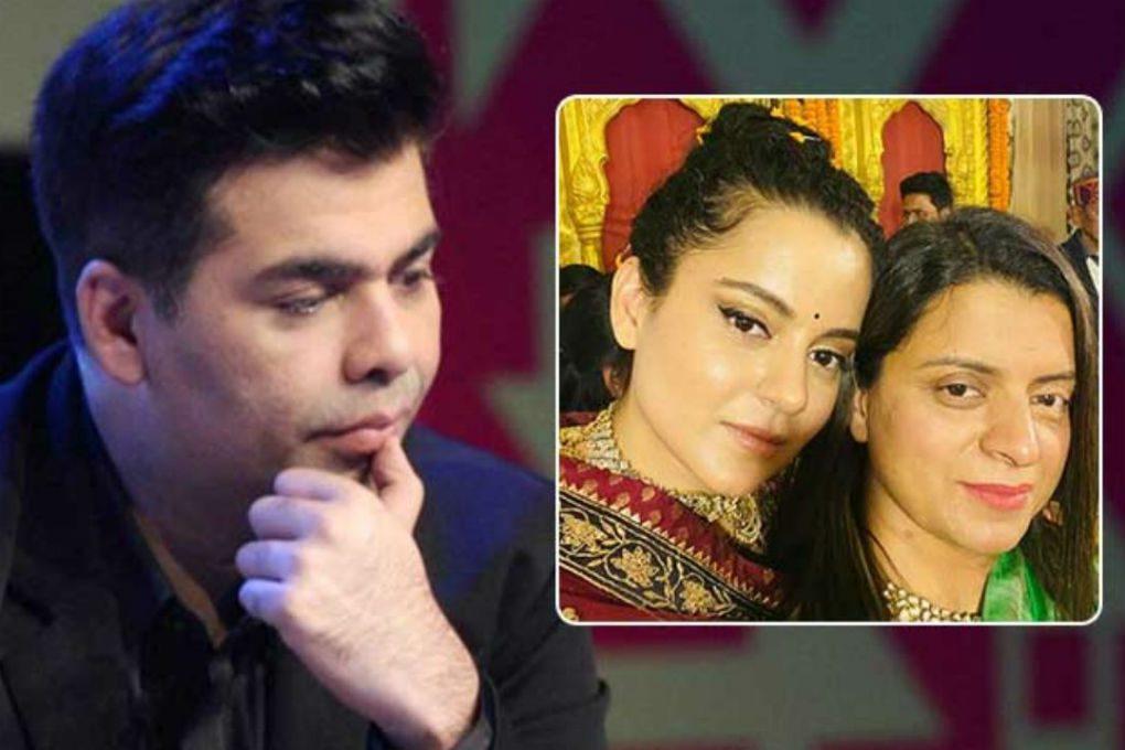 Rangoli Chandel Slams Karan Johar