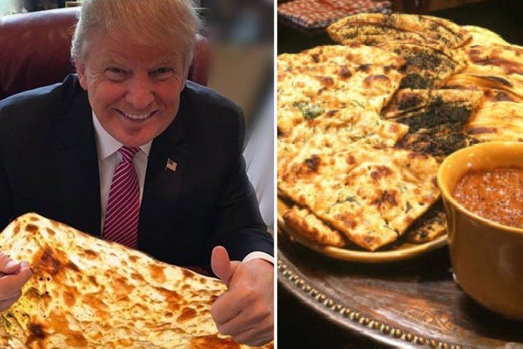 Donald Trump Eating Bukhara Naan