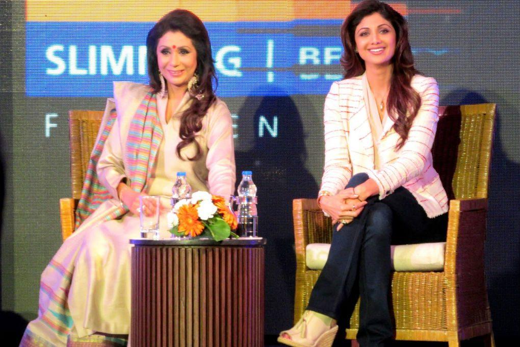 Vandana Luthra VLCC with Shilpa Shetty