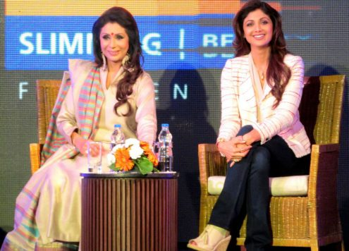 Vandana Luthra VLCC with Shilpa Shetty