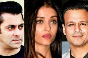 Aishwarya Rai with Salman Khan and Vivek Oberoi